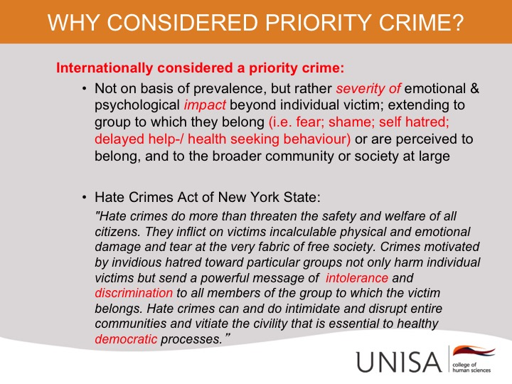 Hate Crimes Working Group – A multi-sectoral network of